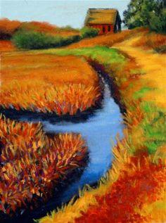 """Cranberry Harvest"" - Original Fine Art for Sale - © Jill Bates"
