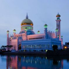 The main mosque in Bandar Sri Begawan #Brunei.