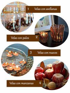 DIY 4 sencillas velas de invierno. Os quiero enseñar estas ideas para hacer unas bonitas velas invernales, que darán un ambiente cálido y acogedor a vuestro