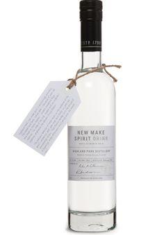 Highland Park New Make Spirit bottle.