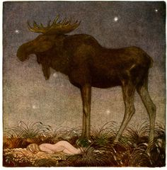 ♞ Artful Animals ♞ bird, dog, cat, fish, bunny and animal paintings - John Bauer