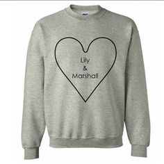 Lily & Marshall #sweatshirts #crewneck #clothes #himym  Order Here: www.jotform.me/MariaLailanie/ThisClothing