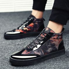 Shoespie Mesh Lace-Up Patchwork Sneaker|Embellishment:Thread