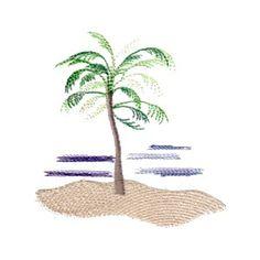 free beach scene with palm tree sample