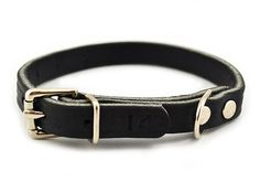 1/2in Wide Leather Dog Collar - Great for puppies and small breeds! Available in brown or black for $8.00