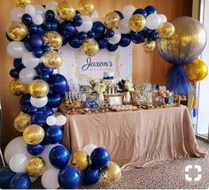 DIY Balloon Garland Kit // Navy Blue White Gold Confetti Balloon Arch // Balloon Garland // Reception // Party Celebration Decor // Birthday - Welcome to our website, We hope you are satisfied with the content we offer. Shower Party, Baby Shower Parties, Baby Shower Themes, Baby Shower Decorations, Baby Boy Shower, Royal Baby Shower Theme, Shower Ideas, Baby Shower Nautical, Balloon Garland