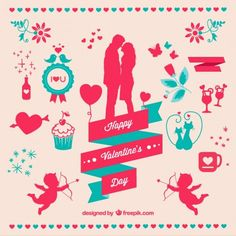 25+ Free Printable Happy Valentines Day Cards from Freepik