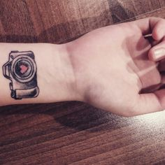 Camera tattoo but add colorsplash