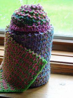 Free Pattern: The Noro Slip Stitch Stripe Scarf