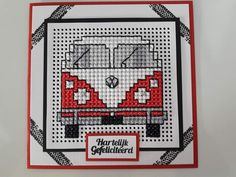 Volkswagen Celtic Cross Stitch, Cross Stitch Beginner, Cross Stitch Love, Cross Stitch Cards, Cross Stitching, Cross Stitch Embroidery, Cross Stitch Patterns, Cute Sewing Projects, Making Greeting Cards