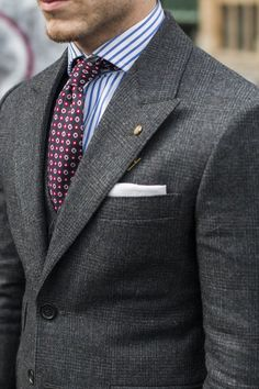 Prince de Galles / Gris / Cravate / Chemise / Couleurs