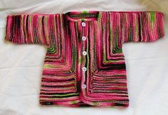 The famous Baby Surprise Jacket by Elizabeth Zimmerman.  I'm working on one right now!