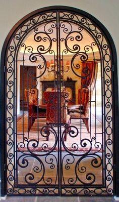 Iron door to the dining room