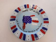 4th of july plate