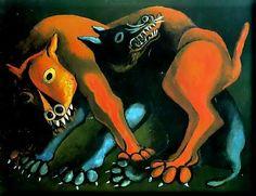 Lo político en el pintor no es excluyente de una voluntad de forma y estilo, ya que como modo estético denuncia las anomalías de una sociedad injusta. Carlos Cañas