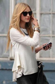 Beige Long Sleeve Contrast Chiffon Ruffles T-Shirt - Sheinside.com Mobile Site