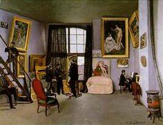 El estudio del artista. Fréderic Bazille