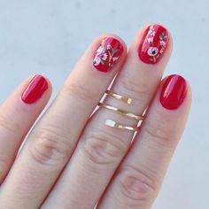 Pedicure Nail Designs, Pedicure Nails, Nail Art Designs, Gelish Nails, Red Nails, Hair And Nails, Nail Nail, Nail Polish, Cute Nails