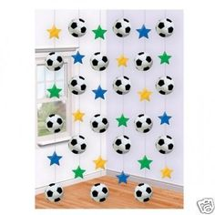 6 Strings Football Decoration - Soccer World Cup Hanging Party Decorations