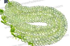 Prehnite Faceted Coin Quality A PACK of 9 by GemstoneWholesaler