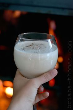 The Yummy Eggnog Detox {Low-carb, Sugar-free, High Protein, High Fat, THM: Deep S} - this hot eggnog drink is perfect for the morning after Thanksgiving if you decide to over-indulge that day.  Full of healing fats, this holiday drink works great for breakfast, snack, or whenever you need a cheery warm-up.
