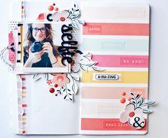 Selfie Traveler's Notebook Page by Peggy Emmrich | @FelicityJane