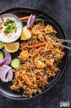 Easy Vegetable Biryani made in the Instant Pot! Basmati rice cooked with spices and vegetable makes this biryani one of my favorite one pot meals. Packed with so much flavor, this biryani is also gluten-free!   Find the recipe on www.cookwithmanali.com