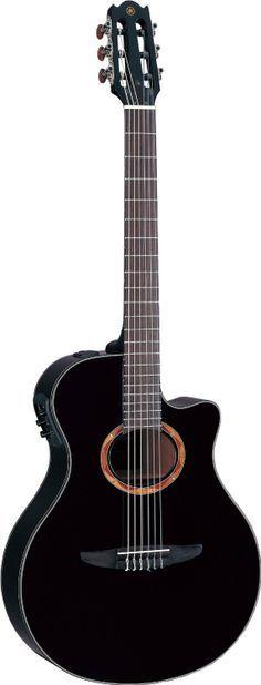 Yamaha Guitars - Yam Yamaha Guitars - Yamaha NTX700BL Acoustic Electric Classical Guitar Black