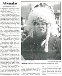 Abenaki Tribes in Vermont | The Reinvention of the Alleged Vermont and New Hampshire Abenakis: 03 ...