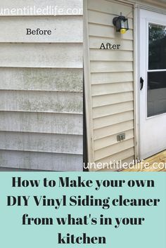 how to make your own diy vinyl siding cleaner from what you already have in your kitchen