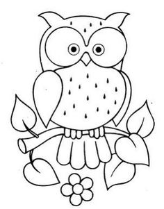 69 New Ideas For Patchwork Quilting Patterns Fun Art Drawings For Kids, Bird Drawings, Drawing For Kids, Easy Drawings, Owl Coloring Pages, Coloring Books, Colouring, Owl Patterns, Embroidery Patterns