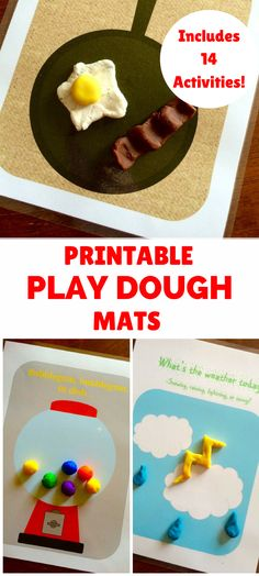 Want to make play dough more fun! Check out these printable play dough mats! Includes 14 kids activities to do with play dough! #ad | kids activities | kids printable | kids games | play dough | kids crafts |