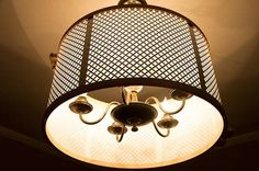 Pretty, right? Knuckle Salad's DIY drum shade tutorial for ceiling fixtures. Cheap and easy.