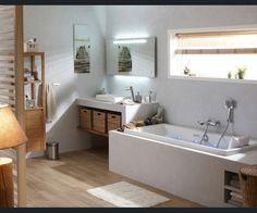 Salle de bains Blanc/beige/naturel Bois Naturel / Authentique