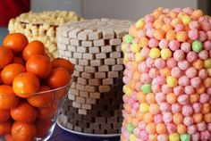 """Great article on """"minimalist Dol party"""".. ironically, I don't know if these pictured """"go-im"""" towers were that simple to arrange."""