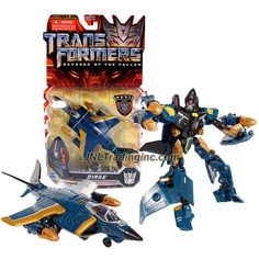 """Hasbro Year 2009 Transformers Movie Series 2 """"Revenge of the Fallen"""" Deluxe Class 6 Inch Tall Robot Action Figure - Decepticon DIRGE with 2 Launching Missiles (Vehicle Mode: Fighter Jet)"""