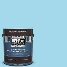 BEHR Premium Plus Ultra 1-gal. #520A-3 Nevada Sky Satin Enamel Exterior Paint