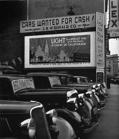 "John Gutmann: ""Cash for your car"", San Francisco, 1939"