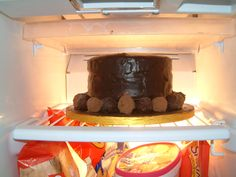 And the top tier in someone else`s fridge.