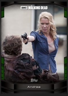 Andrea (Green Parallel) Walker Kills Insert Card The Walking Dead 2016 Topps