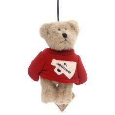 Boyds Bears Plush #1 Cheerleader Ornament Plush Ornament