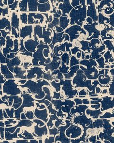 ROYAL HUNTING Wallpaper Cool Wallpaper, Pattern Wallpaper, Hunting Wallpaper, Mind The Gap, Eclectic Design, Wallpaper Online, Ancient Symbols, Burke Decor, World Cultures