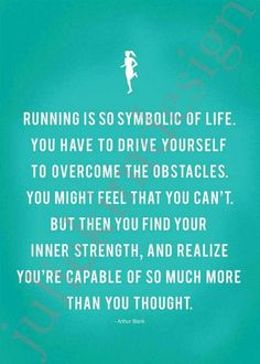 So true! The more I run the more I find how comparable & relatable it is to so many aspects of my life! ...