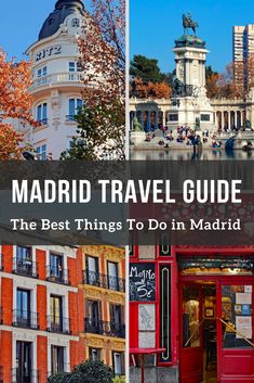 Traveling to madrid, spain? here is the ultimate madrid travel guide to help plan your madrid itinerary for your upcoming visit! Valencia, Menorca, Barcelona, Malaga, Madrid Attractions, Granada, Madrid Guide, Madrid Tours, Visit Madrid
