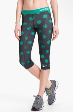 Nike 'Pro' Print Capri Leggings available at #Nordstrom | just wish these were a little longer