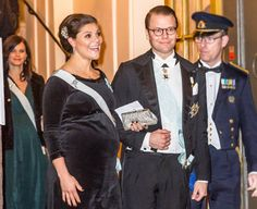 NewMyRoyals:  Swedish Academy Gathering, Swedish Stock Exchange, December 20, 2015-Crown Princess Victoria and Prince Daniel with Princess Sofia behind them
