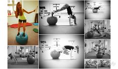 exercises on a stability ball for more balance, strength and coordination Stability Ball, Exercises, Strength, Workout, Design, Exercise Ball, Exercise Routines, Work Out, Workouts