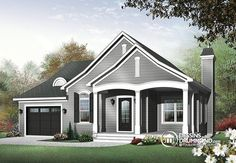 Bungalow, Country, Ranch House Plans - Home Design # 11406 Cottage Style House Plans, Cottage Style Homes, Country House Plans, Cottage Design, House Design, Cottage House, Cottage Plan, House Plans And More, Small House Plans