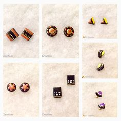 Terracotta Studs - 7 set .. Like these cute studs hit a like in Facebook : https://www.facebook.com/deepscreations and to order : https://www.etsy.com/shop/Deepscreations?ref=hdr_shop_menu