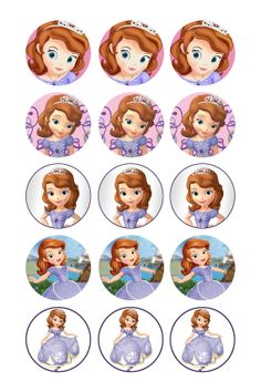 Items similar to SOFIA The First Digital Collage 1 Inch Circle Birthday on Etsy Princess Sofia Birthday, Princess Sofia The First, Sofia The First Birthday Party, Mickey Mouse Parties, Mickey Mouse Birthday, Toy Story Birthday, Toy Story Party, Princesa Sophia, Tangled Party